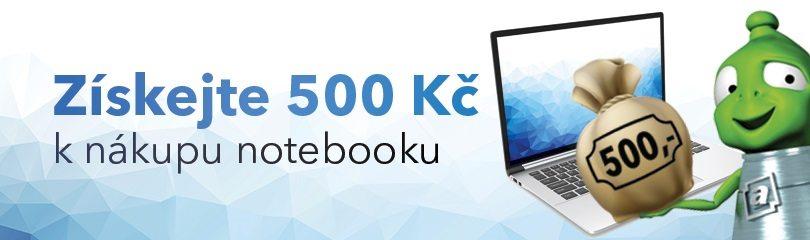 Akce 500Kč k notebooku na Alza.cz