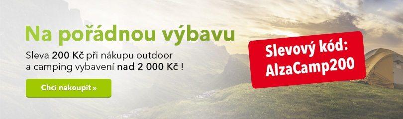 Sleva -200 Kč na kategorii camping a outdoor do Alza.cz