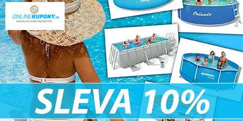 Sleva 10% na bazény