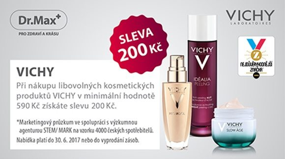 DrMax sleva 200Kč na Vichy kosmetiku