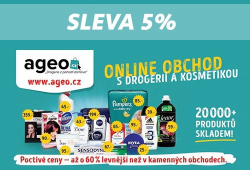 6f0e4d170 Slevový kupón -5% do drogerie Ageo.cz » OnlineKupony.cz