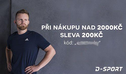 Sleva 200Kč do D-sport.cz