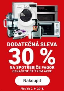 Dodatečná sleva 30 % na značku Fagor na Rozbaleno.cz