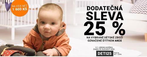 Dodatečná sleva 25 % na dětské zboží do Rozbaleno.cz