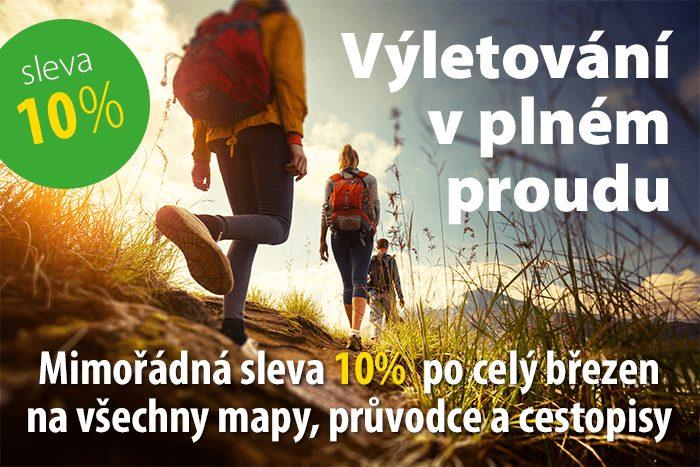 10% sleva na mapy, průvodce a cestopisy v Sevt.cz