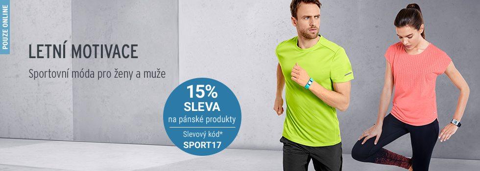 Tchibo sleva 15% na pánskou sportovní módu