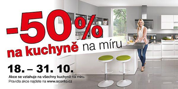 Kuchyně na míru za 50% z ceny na Sconto.cz