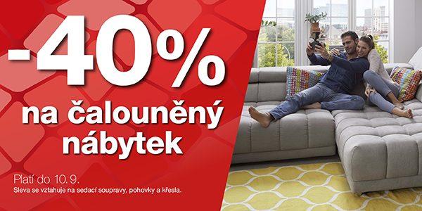 40% sleva na čalouněný nábytek Sconto.cz